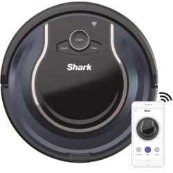 "Shark ION RV761 Robot Vacuum Cleaner - 16 fl oz - Brushroll - 5.90"" Cleaning Width - Carpet - Smart Connect - Battery - Battery Rechargeable - Black, Navy Blue"