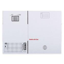 "Scotch® Standard-Duty Moving & Storage Box, 12"" x 16"" x 8"", 80% Recycled, White"