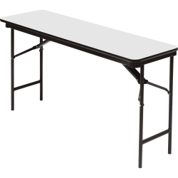"Iceberg Premium Wood Laminate Folding Table, Rectangular, 72""W x 18""D, Gray/Charcoal"