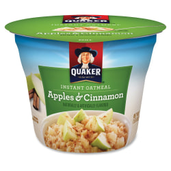 Quaker® Express Oatmeal Cups, Apples & Cinnamon, 1.5 Oz, Pack Of 24