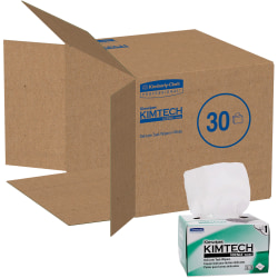 "KIMTECH Kimwipes Delicate Task Wipers - 1 Ply - 4.40"" x 8.40"" - White - Virgin Fiber - Light Duty, Anti-static, Absorbent - For Hand - 280 Sheets Per Box - 30 / Carton"