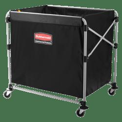 """Rubbermaid® Collapsible X-Cart, 8-Bushel, 34 5/8""""H x 24 1/8""""W x 35 3/4""""D, Black"""