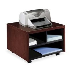 "HON® 10500 Series™ Mobile Printer/Fax Cart, 14 1/8""H x 20""W x 19 7/8""D, Mahogany"