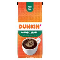 Dunkin' Donuts® Ground Coffee, Medium Roast, Decaf, 12 Oz Per Bag