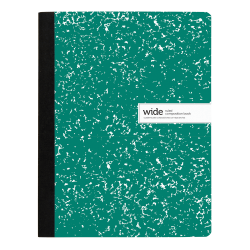 """Office Depot® Brand Composition Notebook, 9-3/4"""" x 7-1/2"""", Wide Ruled, 200 Pages (100 Sheets), Green"""
