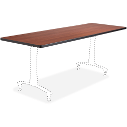 "Safco Cherry Rumba Training Table Tabletop - Cherry Rectangle Top - 60"" Table Top Length x 24"" Table Top Width"