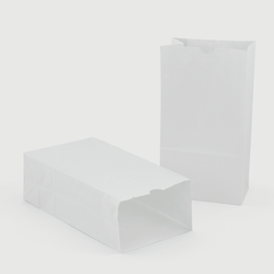"""Hygloss Craft Bags, #6, 6""""H x 3 1/2""""W x 11""""D, White, 100 Bags Per Pack, Set Of 2 Packs"""