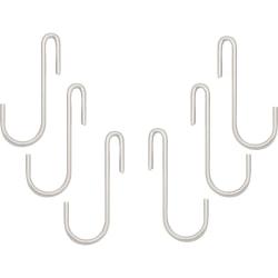 Range Kleen C48 Pot Rack Hooks - Chrome - Pack of 6 - for Utensil - Chrome - 6 / Pack