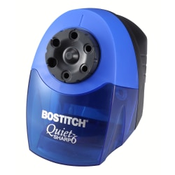 Stanley® Bostitch Classroom Electric Pencil Sharpener, Blue/Black