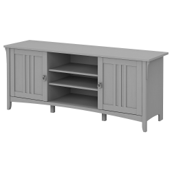 """Bush Furniture Salinas 60""""W TV Stand For 70"""" TVs, Cape Cod Gray, Standard Delivery"""