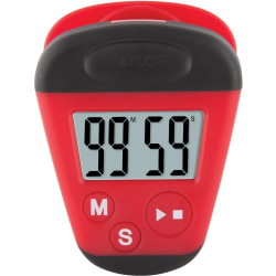 Taylor 5875 Kitchen Clip Timer with Extra-Strong Magnet - 1.65 Hour - For Kitchen