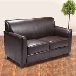 Flash Furniture Hercules Diplomat Bonded LeatherSoft™ Loveseat, Brown