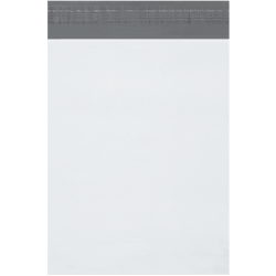 "Partners Brand Expansion Poly Mailers, 10""H x 13""W x 2""D, White, Case Of 100"