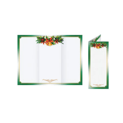 "Great Papers!® Holiday-Themed Programs, Golden Bells Tri-Fold, 3 11/16"" x 8 1/2"", Pack Of 25"