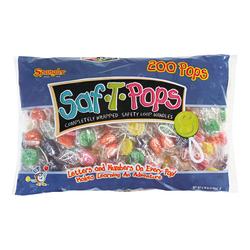 Spangler Candy Saf-T-Pops, Pack Of 200