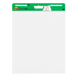 "Post-it® Super Sticky Easel Pads, 25"" x 30"", 30% Recycled, White, Pack Of 6 Pads"