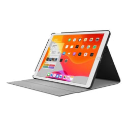 "Incipio Faraday - Flip cover for tablet - polycarbonate, Plextonium, vegan leather - black - 10.2"" - for Apple 10.2-inch iPad (7th generation)"