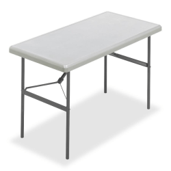 "Iceberg IndestrucTable TOO™ 1200-Series Folding Table, 48""W x 24""D, Platinum"