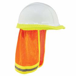 Ergodyne GloWear 8005 High-Visibility Hard Hat Reflective Mesh Neck Shade, Orange