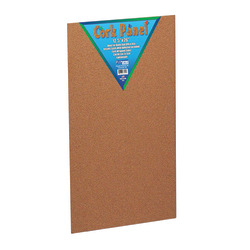 "Flipside Cork Bulletin Board, 12 1/2"" x 26"", Wood Frame With Brown Finish"