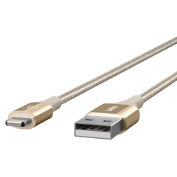 Belkin® DuraTek Lightning-To-USB Cable, 4', Gold, F8J20704-GLD