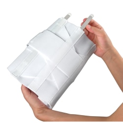 """DMI® Adjustable Lumbar Support Back Brace With Rigid Steel Stays, Fits 34""""-48"""" Waists, White"""