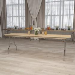 "Flash Furniture Rectangular Heavy-Duty Folding Banquet Table, 30""H x 30""W x 96""D, Natural"