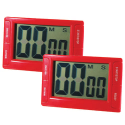 """Ashley Productions Big Red Digital Timer 3.75"""" x 2.5"""" with Magnetic Backing and Stand, Pack of 2"""
