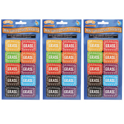 Ashley Productions Non-Magnetic Mini Whiteboard Erasers, Chalk Loop, Pack of 30