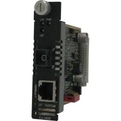 Perle CM-1000-S1SC40U Gigabit Ethernet Media Converter - 1 x Network (RJ-45) - 1 x SC Ports - 1000Base-BX, 1000Base-T - Internal