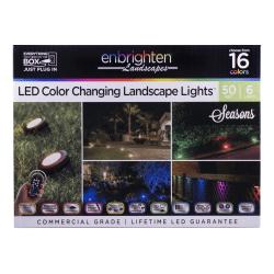 Enbrighten Seasons LED Outdoor Landscape Puck Lights, 6-Puck, Oil-Rubbed Bronze