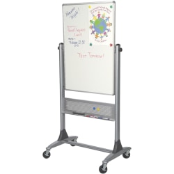 "Best-Rite® Dura-Rite Reversible Dry-Erase White Board, 40"" x 30"", Silver Frame"