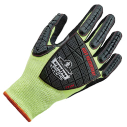 Ergodyne ProFlex 7141 Hi-Vis Nitrile-Coated DIR Level 4 Cut-Resistant Gloves, XX-Large, Lime