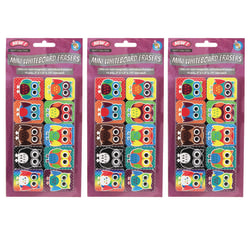 Ashley Productions Non-Magnetic Mini Whiteboard Erasers, Color Owls, Pack of 30