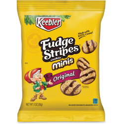 Keebler® Fudge Stripes Cookies, 2 Oz, Box Of 8
