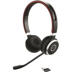 Jabra® Evolve 65 Microsoft® Lync Stereo Wireless Bluetooth® Over-The-Head Headphones