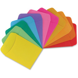 "Hygloss Nonadhesive Library Pockets - 5"" Height x 3.5"" Width x 7"" Length - Rectangular - Assorted - Manila - 30 / Pack"