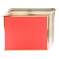 """U Brands Hanging File Folders, 1"""" Expansion, Letter Size, Brights, Pack Of 6 Folders"""
