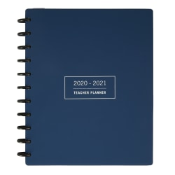TUL® Discbound Monthly Teacher Planner, Letter Size, Navy, July 2020 To June 2021, TULTCHPLNR-AY20-NY