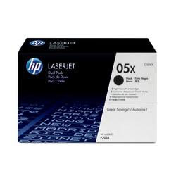 HP 05X Black Toner Cartridges (CE505XD), Pack Of 2