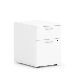 "HON Mod Mobile Pedestal - 15""W - 20"" x 20"" x 15"" - 2 x Box Drawer(s), File Drawer(s) - Material: Steel Ball Bearing - Finish: White"