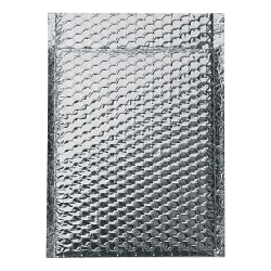 """Office Depot® Brand Cool Shield Bubble Mailers, 10-1/2""""H x 10""""W x 3/16""""D, Silver, Pack Of 100 Mailers"""