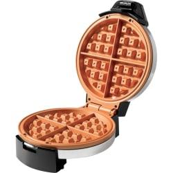 Starfrit Electric Waffle Maker - Eco Copper - - 1100 W - Black, Copper