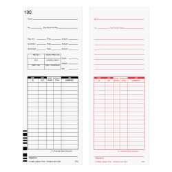 "Lathem Time Cards, F/7000E, Numbered 1–100, 2-Sided, 3 3/8"" x 9"", White, Pack Of 100"
