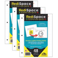 RediSpace® Notebook Filler Paper, 48 Sheets Per Pack, 3 Packs