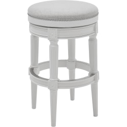 New Ridge Home Goods Chapman Backless Bar Stool, Alabaster White