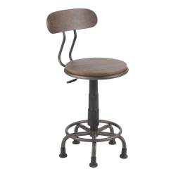 LumiSource Dakota Industrial Task Chair, Espresso/Black