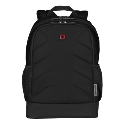 "Wenger® Quadma Backpack With 15"" Laptop Pocket, Black"