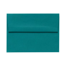 """LUX Invitation Envelopes With Peel & Press Closure, A6, 4 3/4"""" x 6 1/2"""", Teal, Pack Of 50"""