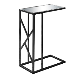 Monarch Specialties Mirror Accent Table, Rectangular, Black